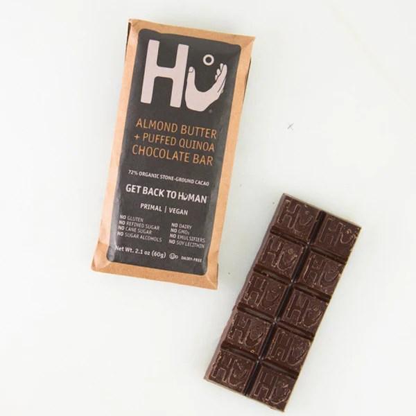 Almond Butter  Puffed Quinoa Dark Chocolate Bar By Hu