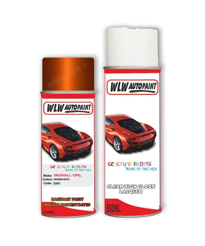 Vauxhall Mokka Orange Rock Aerosol Spray Car Paint Lacquer G6v Auto Car Paint Uk