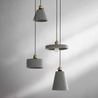 Concrete Vasa Minimalist Pendant Light - Tudo&Co  Tudo And Co