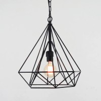 Geometric Diamond Wire Cage Pendant Light : Tudo&Co  Tudo ...