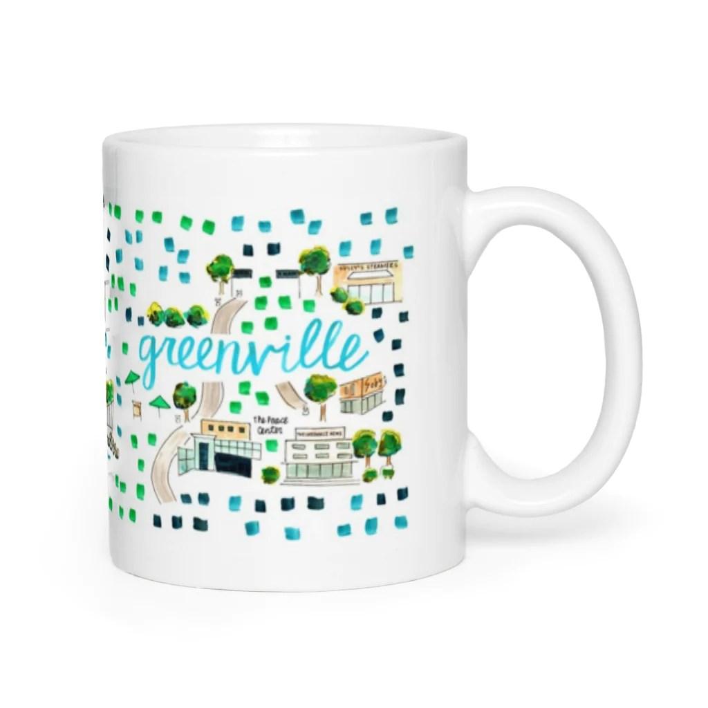 Greenville Sc Map Mug Evelyn Henson