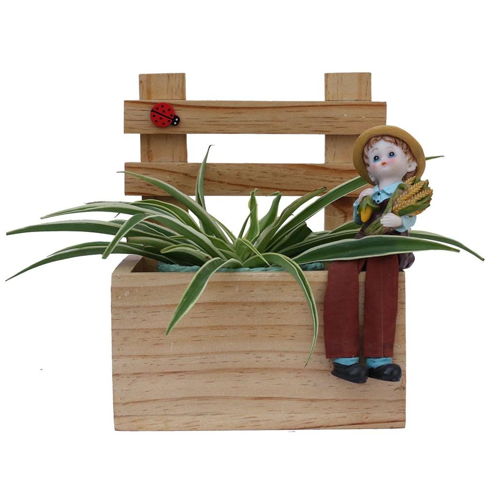Teak Wood Planters - Mybageecha
