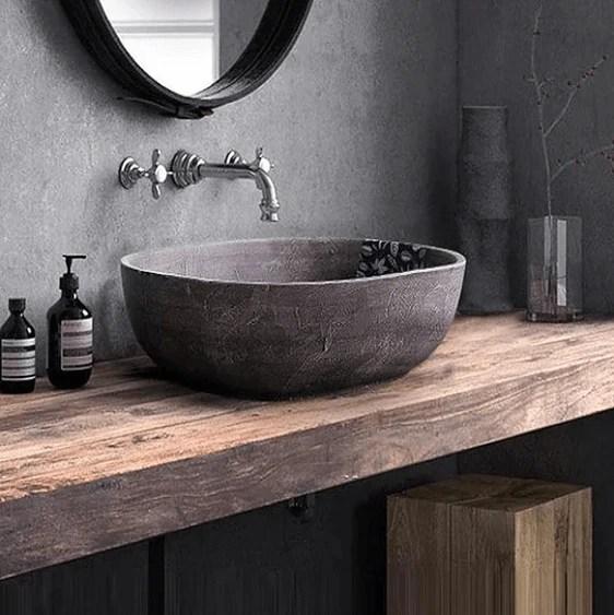 laila vintage antique cement wash basin