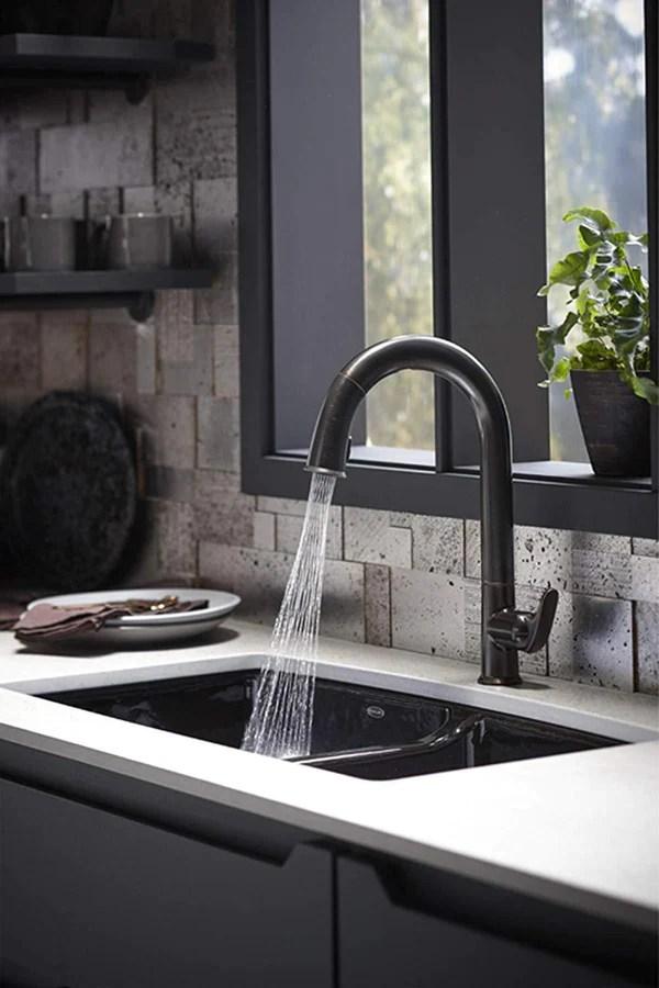 kohler k 72218 wb 2bz sensate kitchen sink faucet oil rubbed bronze