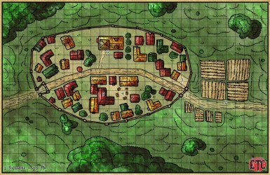 town map rpg fantasy tower elven walled canvas