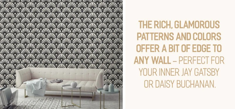Piccadilly Removable Wallpaper - part of our Art Deco Wallpaper Collection