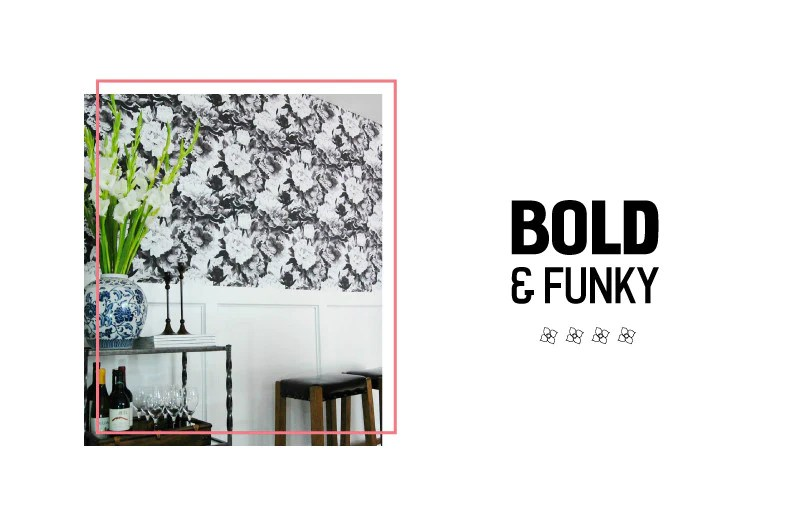 Choose a bolder black and white pattern that can stand on its own!