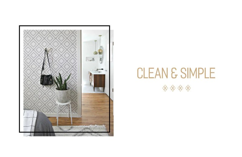 Clean and simple, this black and white Pixel Diamonds removable wallpaper is a great neutral background that lends a lot of character to the space.