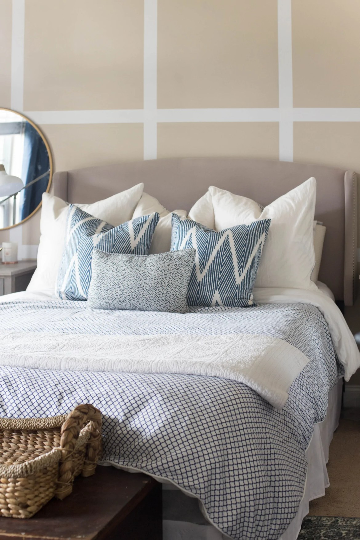 7 Unexpected Things to Stripe | Create a fun accent wall with Easy Stripe vinyl striping. No painting required!