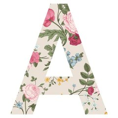 These floral patterned letter wall decals are perfect for building your own monogram! Delicate petals and elegant pattern.