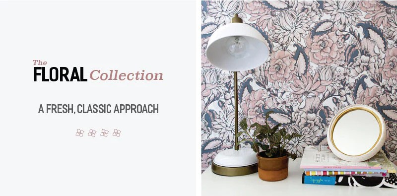 Let your creativity bloom with the Floral Removable Wallpaper Collection by WallsNeedLove