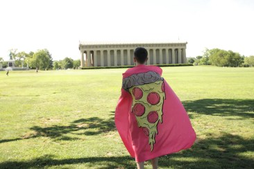 Pizza Party Tapestry in  the park sold by @wallsneedlove.