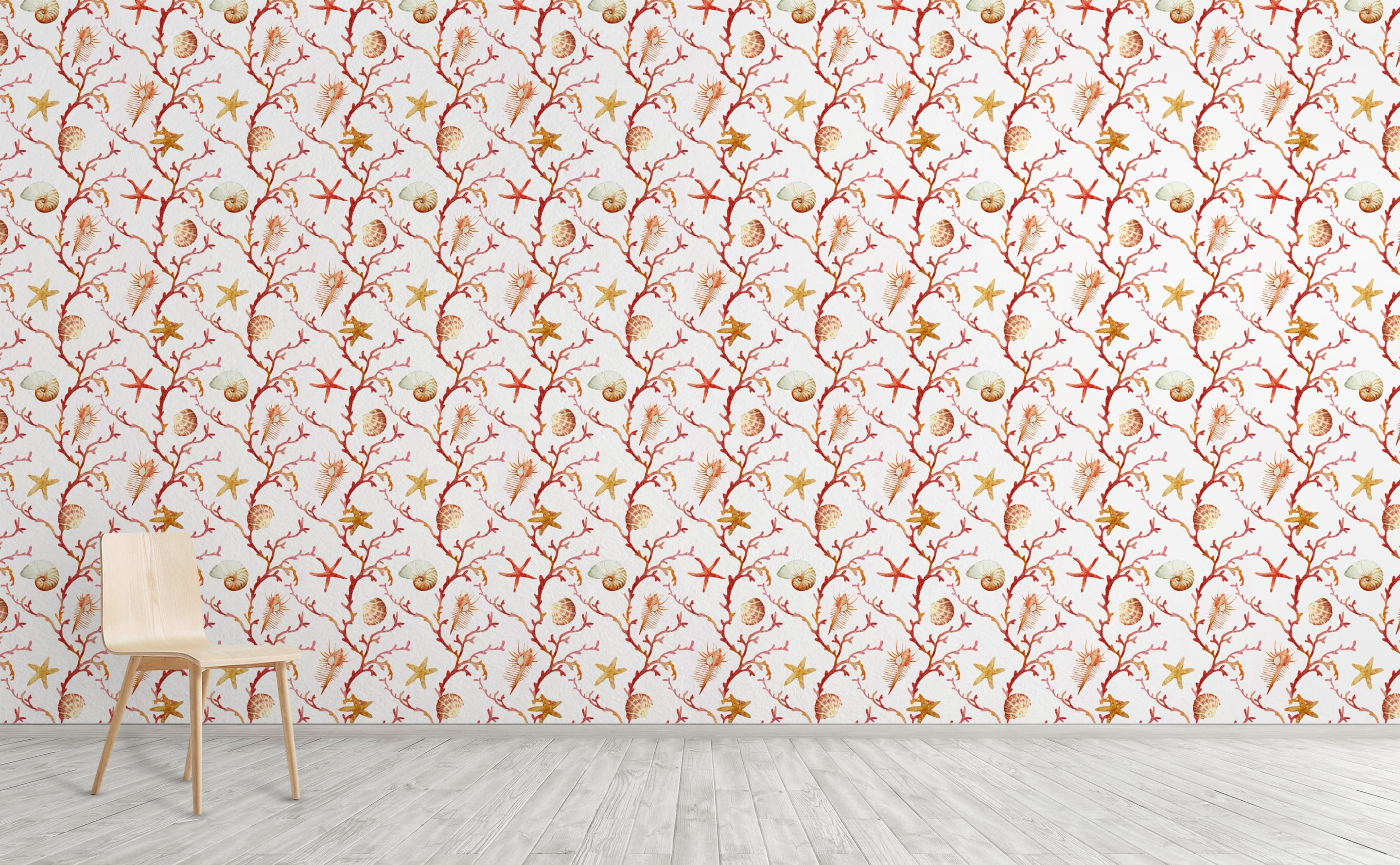 Coral Corral Wallpaper for Walls