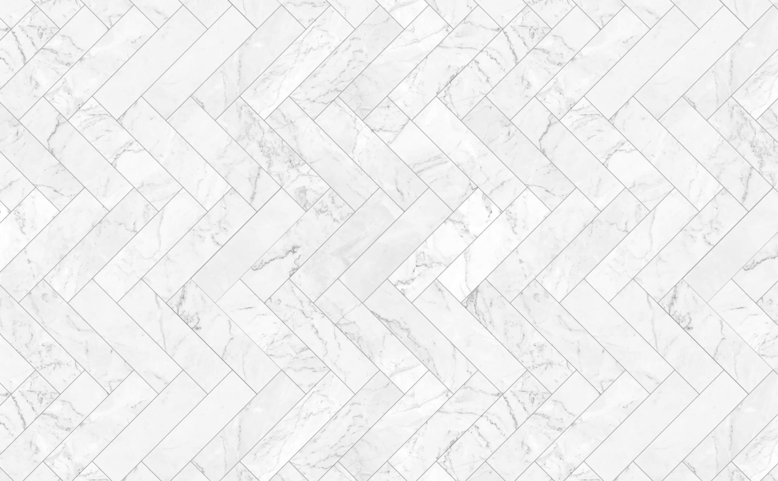carrara herringbone polished marble tile pattern wallpaper for walls classic concept