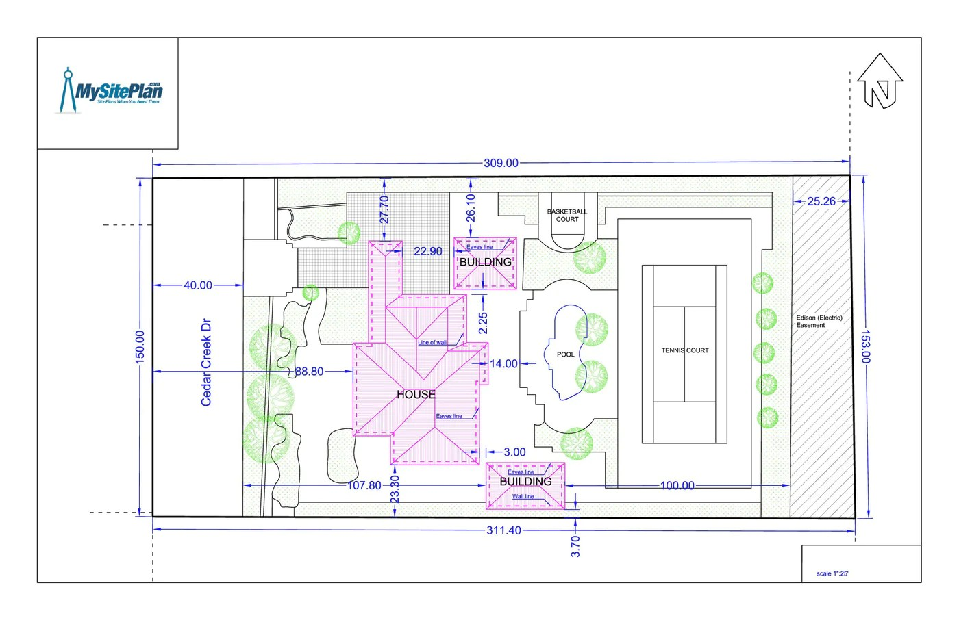 hight resolution of detailed site plan