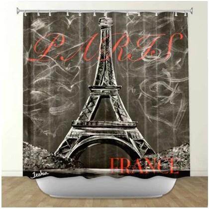 Paris Shower Curtains Shower Curtains With A Paris Theme Eiffel