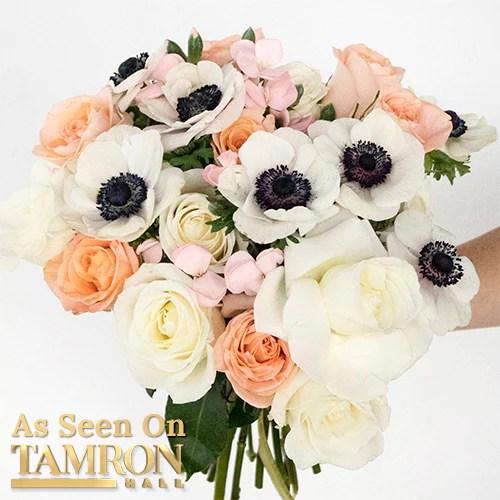 Love Bug White and Peach Flower Bouquet