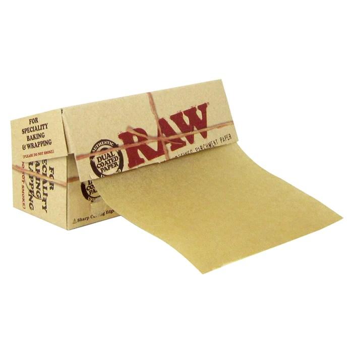 unrefined parchment paper rolls