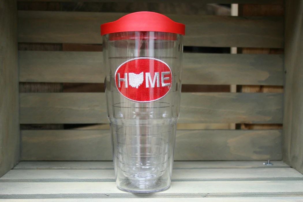 ohio tervis tumbler home red and gray patch