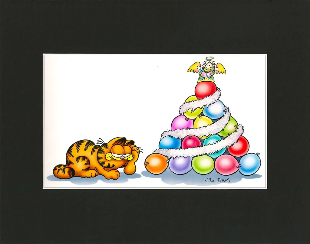 Garfield Airbrushed Artwork - Balloon Christmas Tree