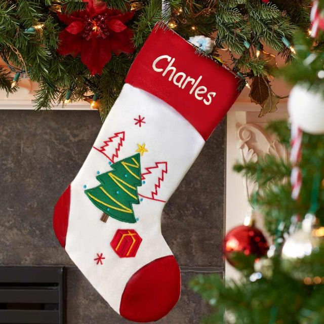 Personalized Holiday Christmas Stocking - Dibsies Personalization Station
