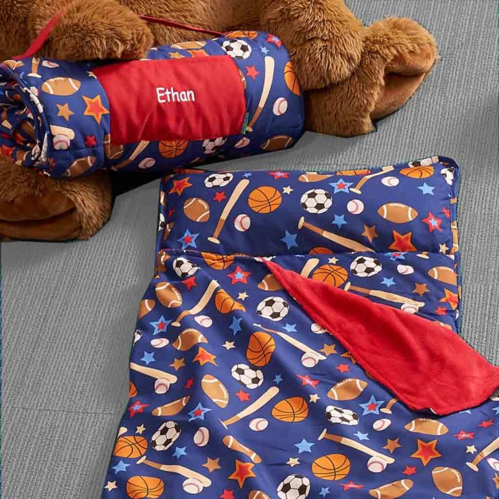 Personalized Toddler  Preschool Nap Mats  Sports