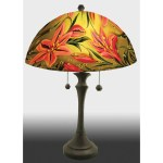 Jamie Barthel Lovely Lily Reverse Hand Painted Glass Table Lamp Contemporary Glass Lamps Sweetheart Gallery Contemporary Craft Gallery Fine American Craft Art Design Handmade Home Personal Accessories