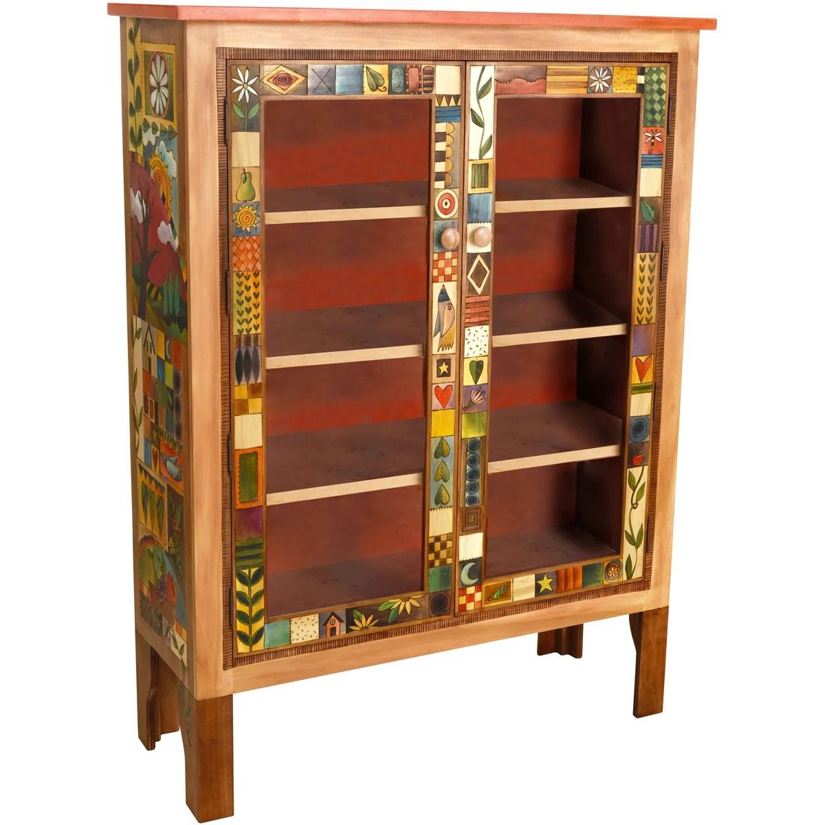 Large Double Door Bookcase By Sticks Bcs005 D70951