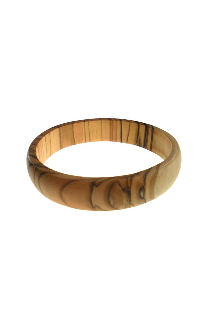 HandCarved Thin Olive Wood Bangle From The Earth