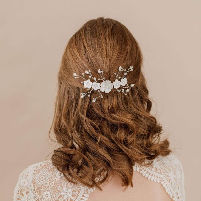wedding hair vines | bridal hair vines | britten weddings uk