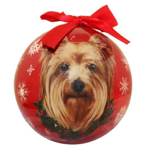 Yorkshire Terrier Yorkie Shatterproof Dog Breed Christmas