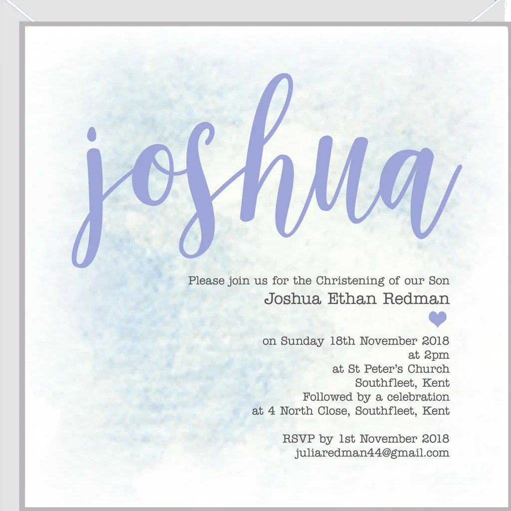 personalised christening invitations with
