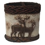 Bath Laural Home Majestic Deer Shower Curtain Hooks Brown