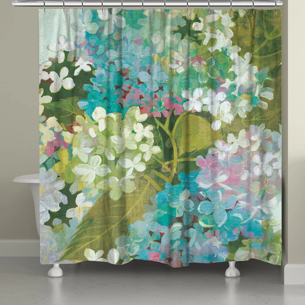 grand hydrangeas shower curtain