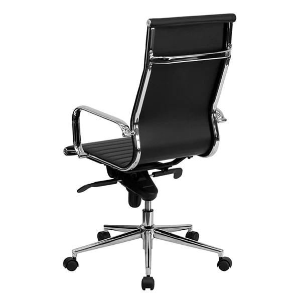 flash furniture high back executive leather office chair Flash Furniture - High Back Black Ribbed Upholstered Leather Executive — iTestCash.com
