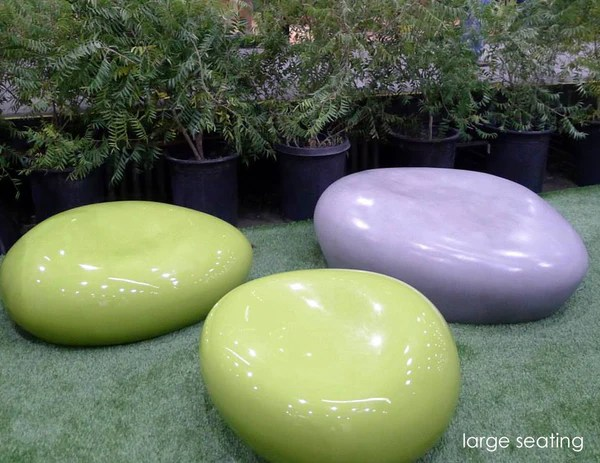 Beautiful Ceramic Pots Modern Outdoor Seating Pebble | Creative Living