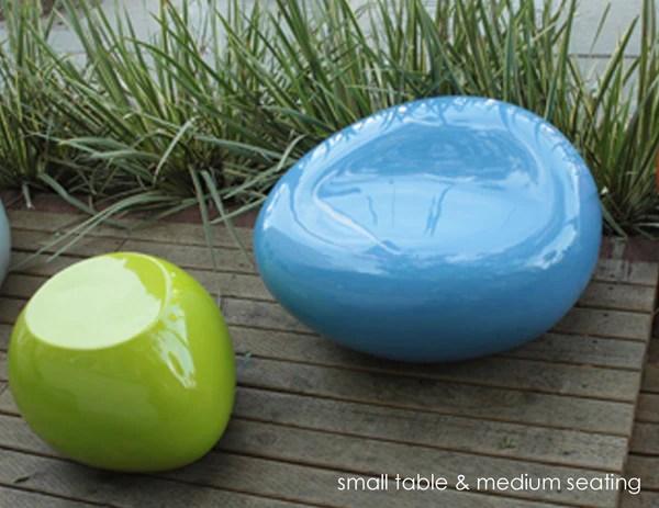 Modern Outdoor Seating Pebble  Creative Living