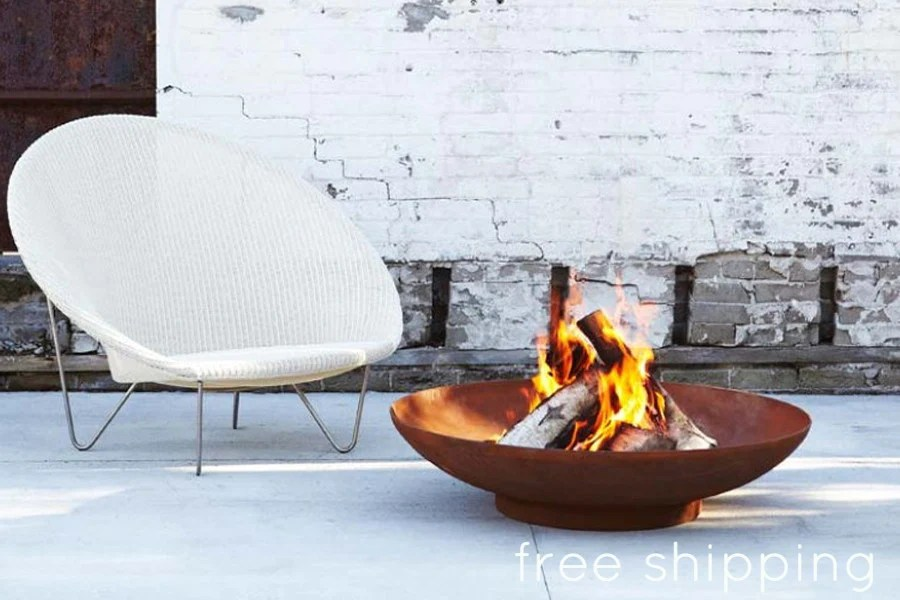 CORTEN STEEL FIRE BOWL  Creative Living