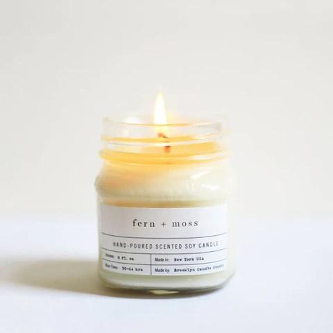 Handmade Mason Jar Soy Candle by Brooklyn Candle Studio.