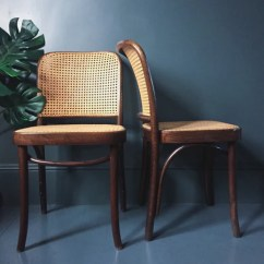 Bergere Dining Chairs Green Chair Covers For Sale Pair Of Joseph Hoffmann Prague Bentwood Cane