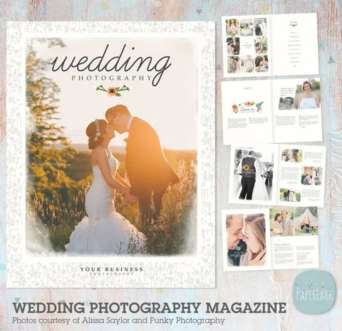 24 Page Wedding Photography Magazine Template Pg010