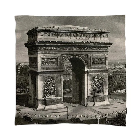 Paris vintage Arc de Triomphe 1943 Scarf  $48.00 By stine1