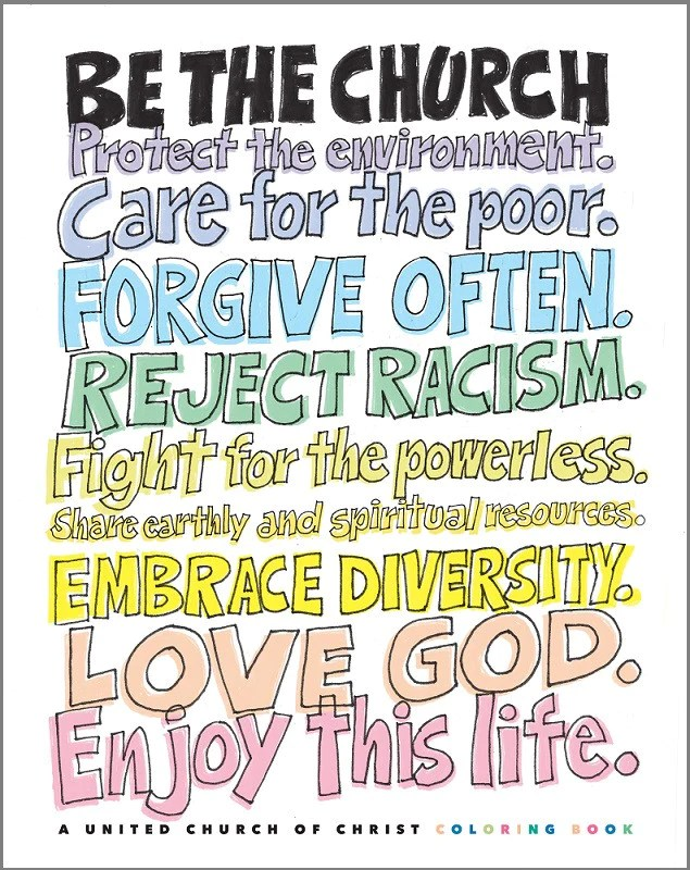 Be The Church A United Church Of Christ Coloring Book