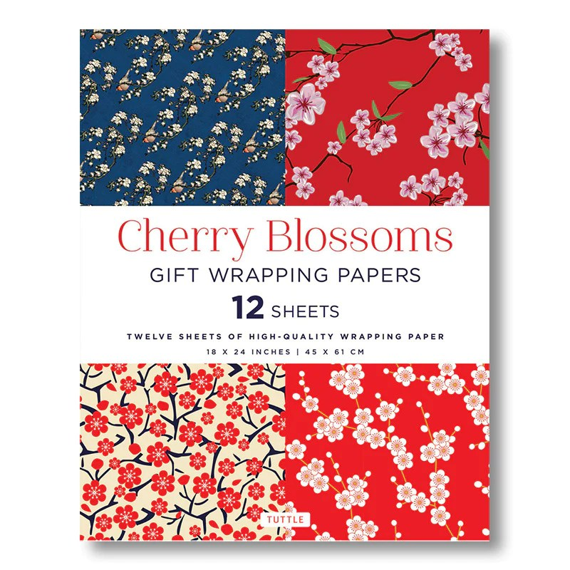 cherry blossoms gift wrapping