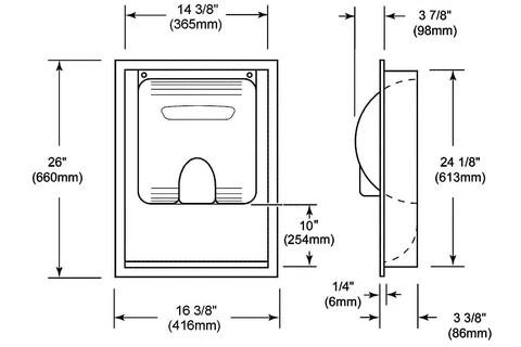 XLERATOR 40502 Hand Dryer Recess Kit ADACompliant