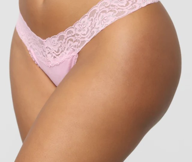 Perfect Everyday Lace Waist Thong Panty Lilac