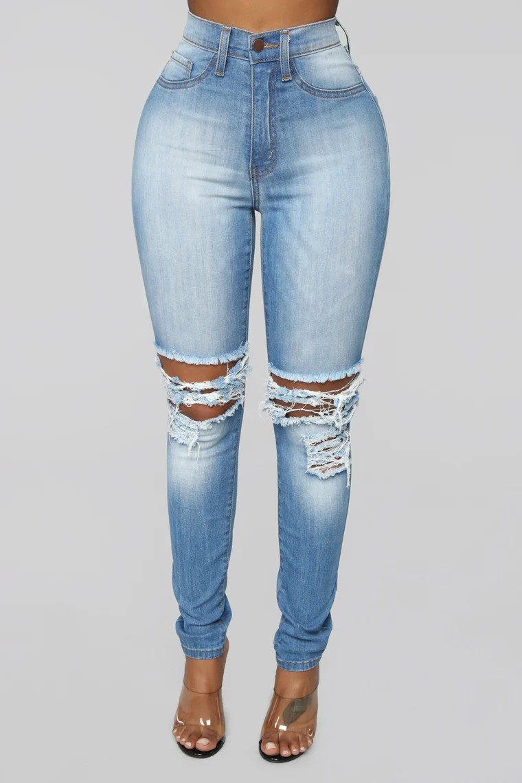 One More Time Skinny Jeans - Light Blue Wash 2