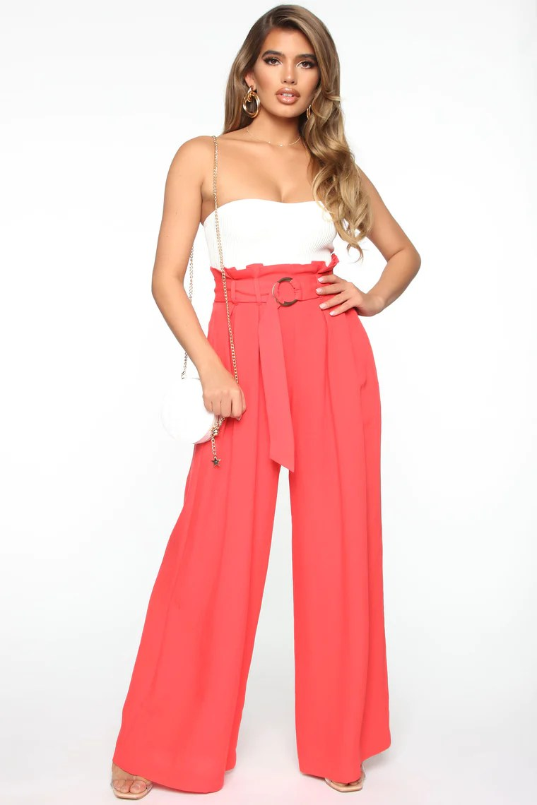 Widen Your Love Pants - Red 2