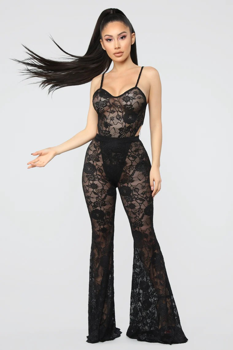 Love Love Lace Pant Set - Black 14