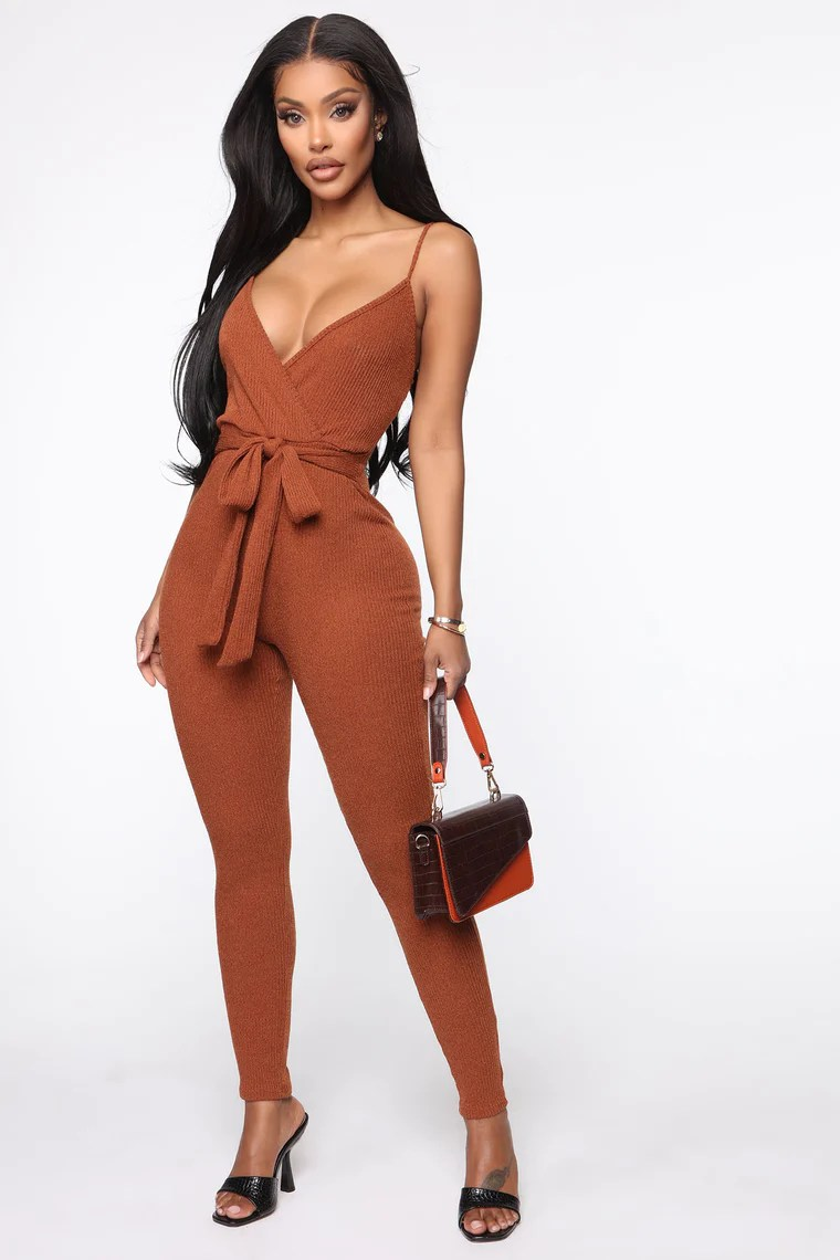 Endless Stories Jumpsuit - Cognac 2